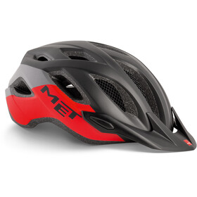 MET Crossover Casco, black/red